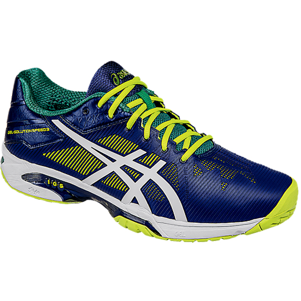 asics s gel solution speed 3 tennis shoe indigo blue