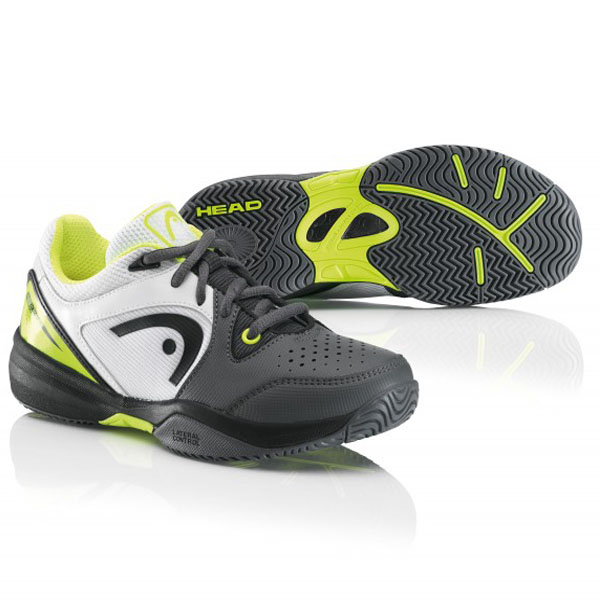 revolt pro junior tennis shoe grey neon yellow 275105