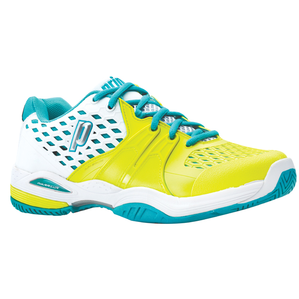 Prince Warrior Women S Tennis Shoes White Lemon Teal The