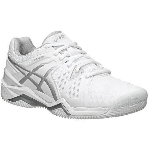 ASICS Women's Gel Resolution 6 Tennis Shoes White/Silver E550Y-0193 ...