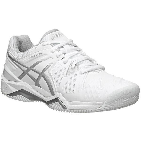 a6fe401cdb150 ASICS Women s Gel Resolution 6 Tennis Shoes White Silver E550Y-0193 ...