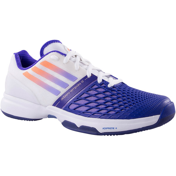 separation shoes e33ba cafd1 Adidas Adizero CC Tempaia III Women s Tennis Shoes Purple Orange B40458