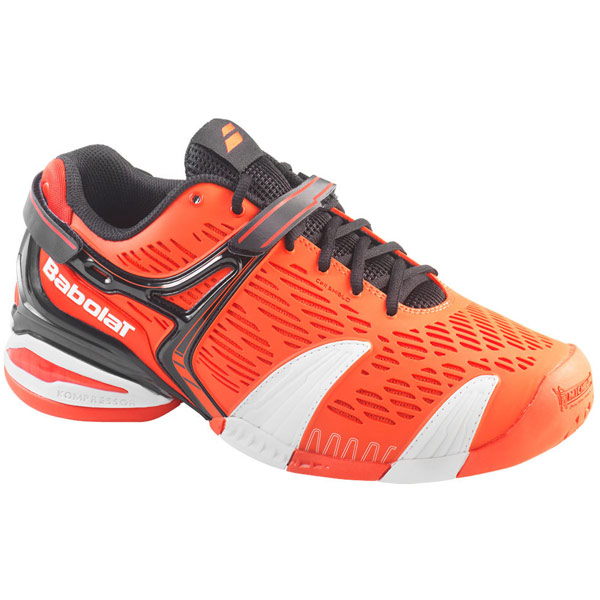 Babolat Tennis Shoes >> Babolat Propulse 4 Junior Tennis Shoes Orange Black The Tennis Shop