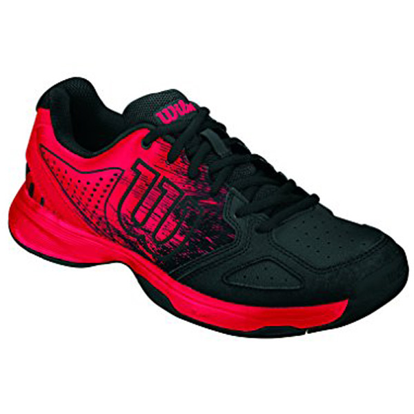 new concept f6426 e1882 Wilson Kaos Comp Junior Tennis Shoe Radient Red Black - The Tennis Shop