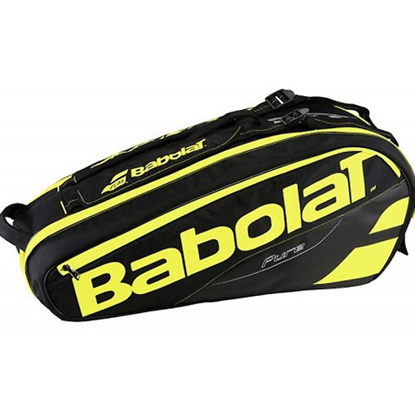 30aae5bb14 Babolat Pure Aero 6 Pack Tennis Bag Black Yellow 150918 - The Tennis ...