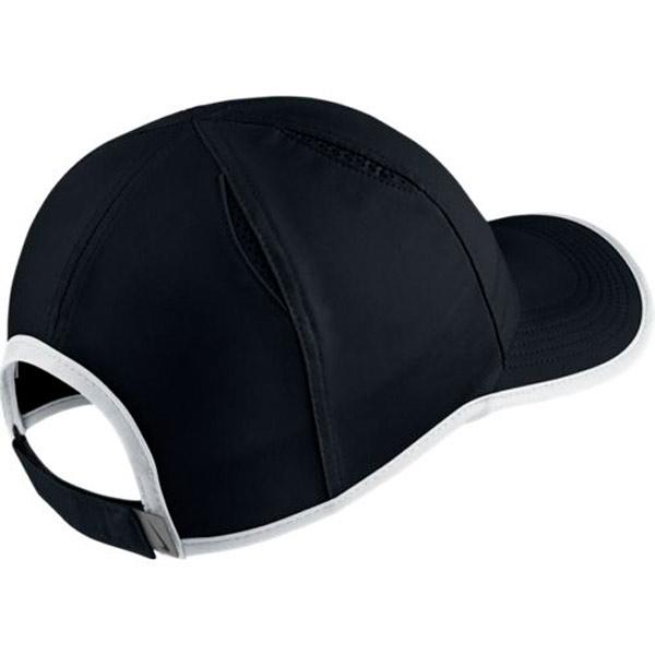 Nike Aerobill Featherlight Swoosh Hat Black White 864100-011 - The ... 8942fdeadd9