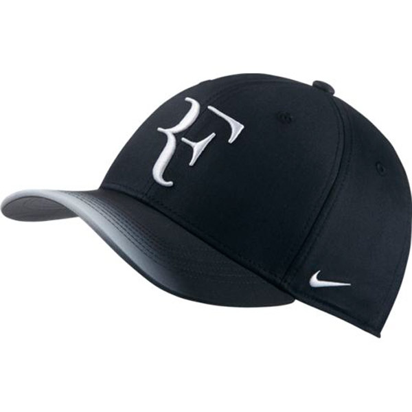 bd6b6e2a Nike RF Aerobill Hat Black/White 868579-013 - The Tennis Shop