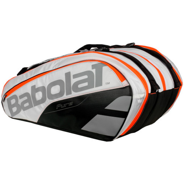 Babolat Pure Strike 12 Tennis Bag White Orange Grey 751161