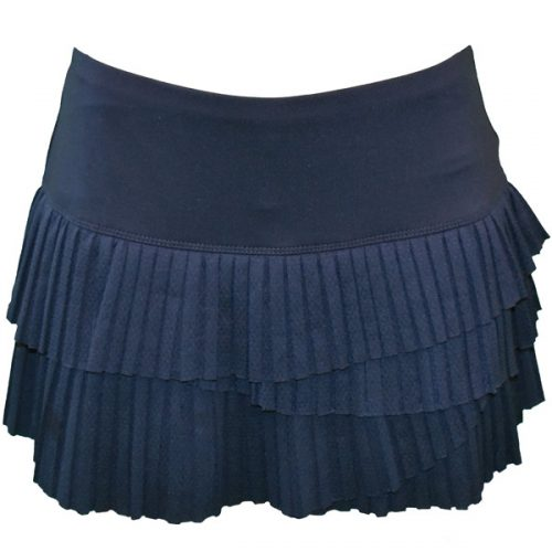 cc59d2f4ab4d87 Lucky in Love Women s Athena Pleat Scallop Skirt Midnight Navy CB163-401