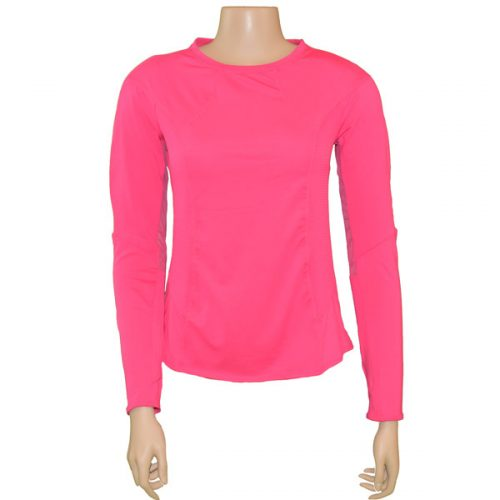 7237f8fd9293 Lucky in Love Women's Long Sleeve Element Crew Shocking Pink CT350-645