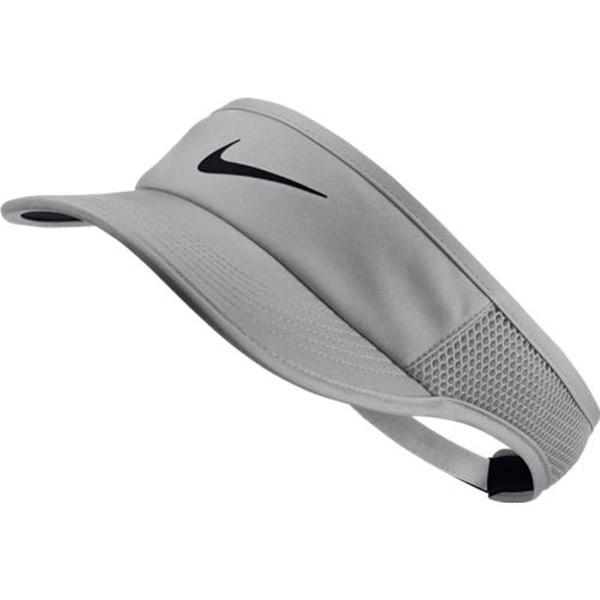5a9fbb64 Nike Women's Court Aerobill Featherlight Visor Vast Grey 899656-092. ; 