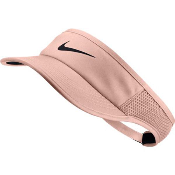 Nike Women's Aerobill Featherlight Visor Crimson Tint 899656 814