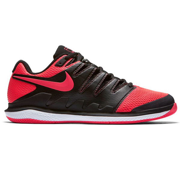 san francisco 42a5b 6afde Nike Air Zoom Vapor X Men s Tennis Shoe Black Red AA8030-006