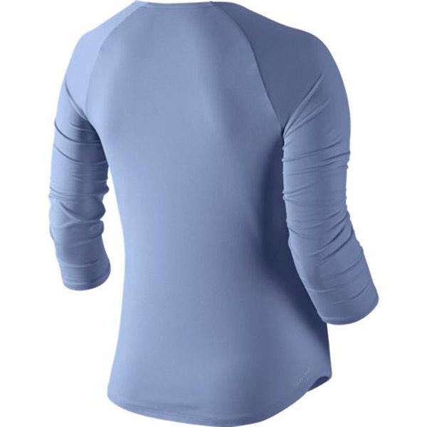Nike Women S Pure 3 4 Sleeve Top Purple Slate 728791 522