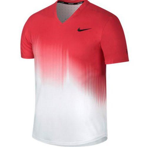 af3169124 Nike Men's RF US Open 2017 Tennis Top Action Red 854925-101