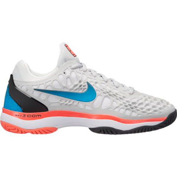 huge selection of e2c88 84588 Nike Zoom Cage 3 Women s Tennis Shoe Platinum Blue Nebula 918199-046 ...