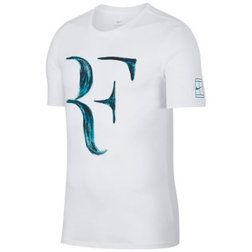 6402b270a Nike Men's RF Tee White/Neo Turquoise 913466-100