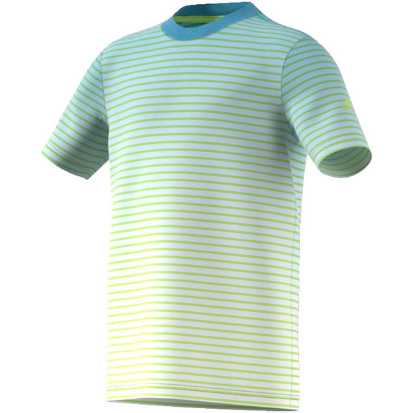 38aff7860812 adidas Boy's Melbourne Tee Semi Frozen Yellow/Ash Blue CW0604 - The ...