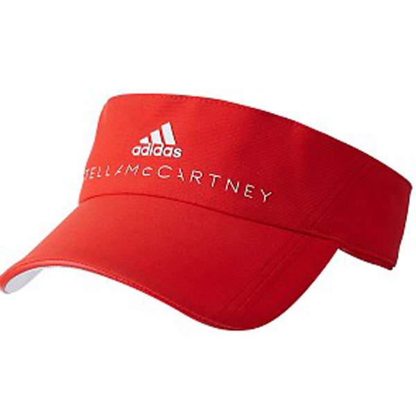adidas Stella McCartney Tennis Visor Core Red White BQ8544 - The ... 4ebf2384172
