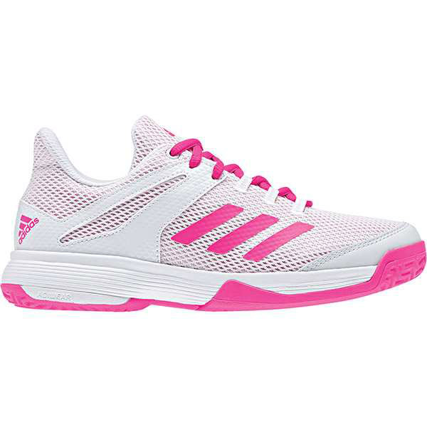 adidas Adizero Club K Junior Tennis Shoe White Shock Pink BB7940 ... c03cfe5febe4