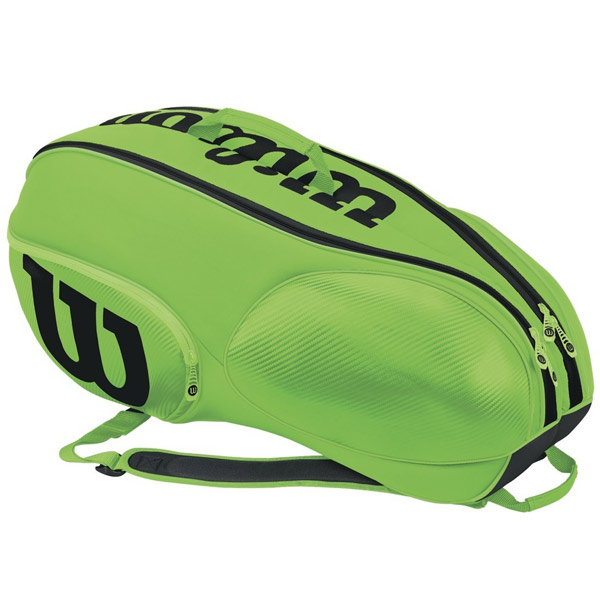 Wilson Junior Mini Vancouver 6 Pack Tennis Bag Green/Black WRZ645706