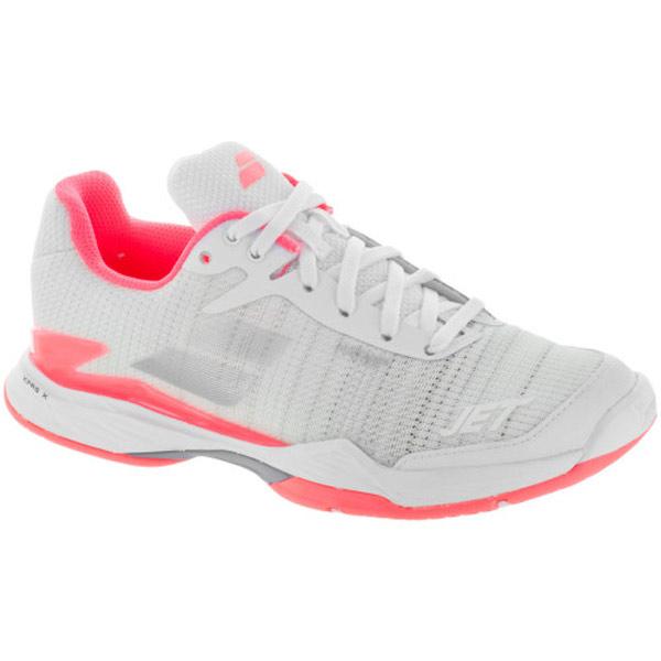 Zapatillas de Tenis Mujer Pink Babolat Jet Mach II Allcourtschuh Damen-Wei/ß