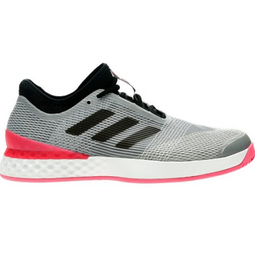 finest selection 6232e 9243a adidas Ubersonic 3 Mens Tennis Shoe Matte SilverBlack CP8853