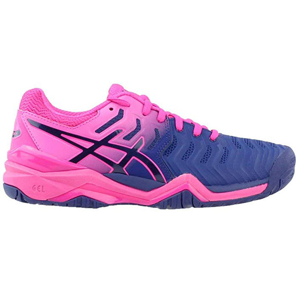 9a9b4dd7d0e0 ASICS Gel Resolution 7 Women s Tennis Shoe Blue Print E751Y-400 ...