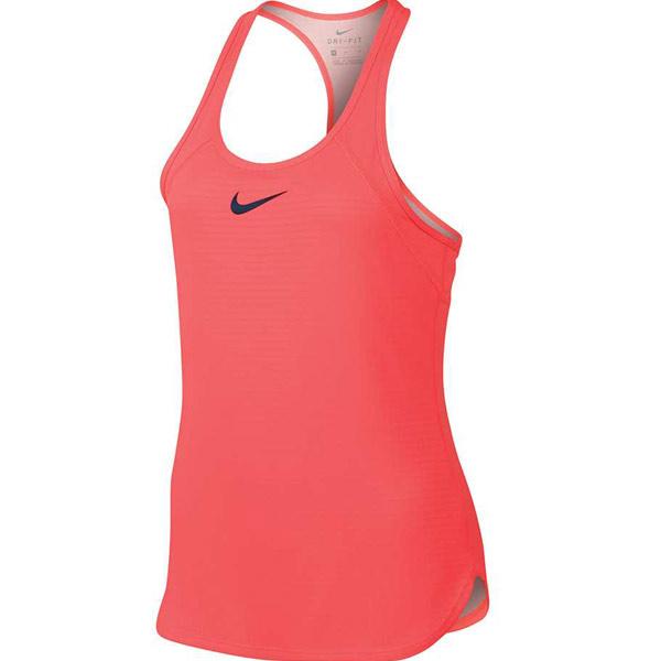 6ac8fa1fdf92 Nike Girl s Slam Tank Fluo Pink 859935-667 - The Tennis Shop