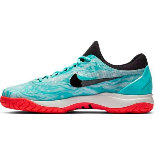 100% authentic 86505 8ed22 Nike Zoom Cage 3 HC Men s Tennis Shoe Aurora Green Black 918193-301