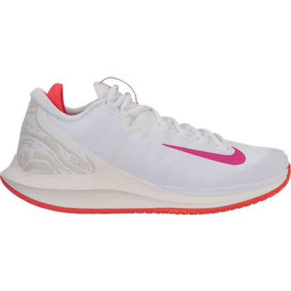 Nike Court Air Zoom Zero Women's Tennis Shoe WhiteActive Fuchsia AA8022 101