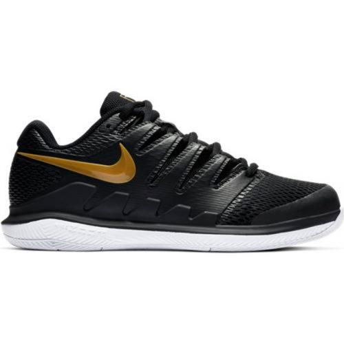 cdbbd7225b31 Nike Zoom Vapor X Women s Tennis Shoe Black Metallic Gold AA8027-003