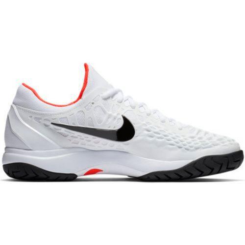 a8cca66aad5b Nike Zoom Cage 3 HC Men s Tennis Shoe White Bright Crimson 918193-106