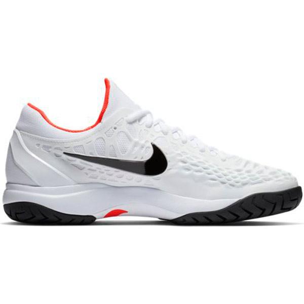 Nike Zoom Cage 3 HC Men's Tennis Shoe WhiteBright Crimson 918193 106