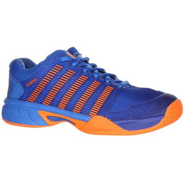 d910c098c783c K-Swiss Hypercourt Express Junior Tennis Shoe Brilliant Blue/Neon Orange  83377-427