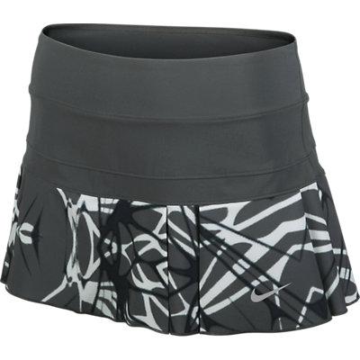 f034fca35 Nike Women's Printed Pleated Woven Skirt Dark Base Grey 598334-016