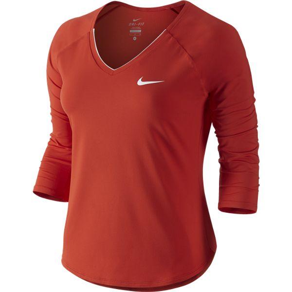 812664d87c557 Nike Women s Pure 3 4 Sleeve Top Lt Crimson White 728791-671. Sale!   