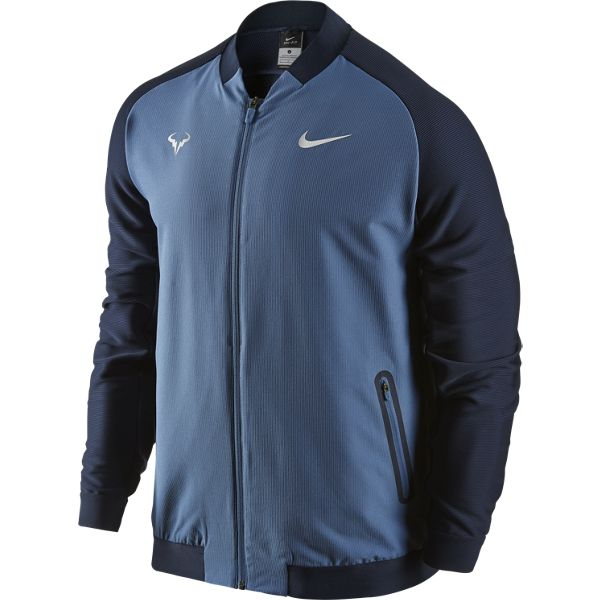 Nike Men S Premier Rafael Nadal Jacket Ocean Fog Obsidian 728986 404 The Tennis Shop