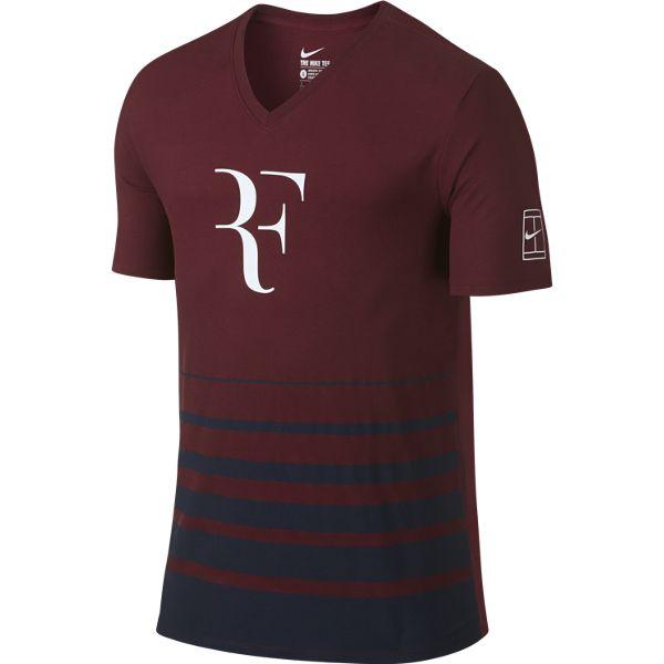 Nike Men's Roger Federer T-Shirt Team Red/Obsidian 777865-677. Sale! ; 