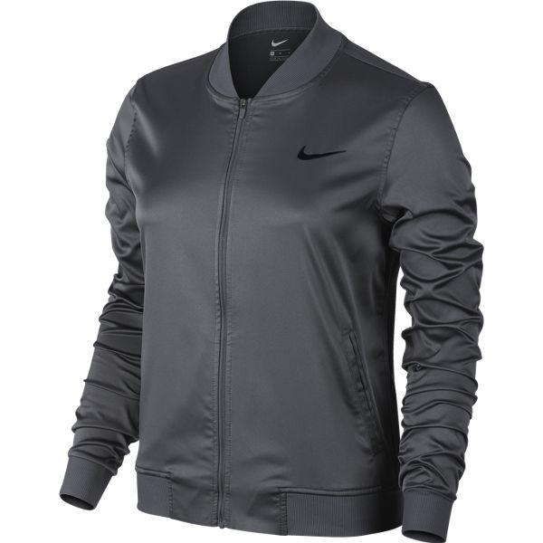 67c50a7fc6e3 Nike Women s Premier Maria Jacket Dark Grey 822200-021 - The Tennis Shop