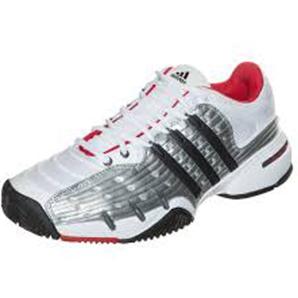 adidas barricade v classic s tennis shoe white silver
