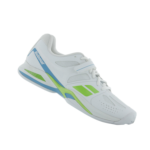 Babolat Propulse Bpm Womens Tennis Shoes White Lime Blue The
