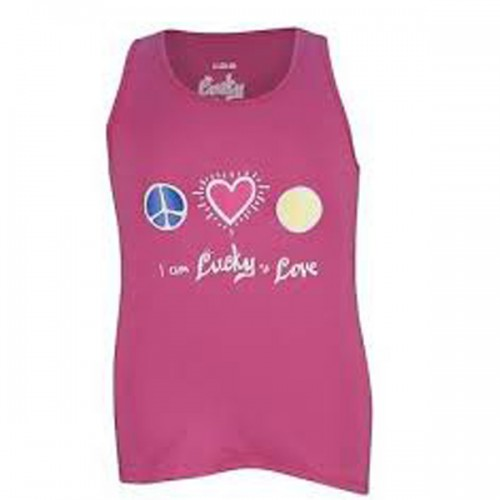 df89347a0d385 Lucky in Love Girls Peace Love Tennis Tank Pink T97