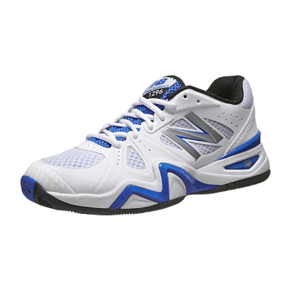 New Balance Men's MC1296 Tennis Shoes White/Blue