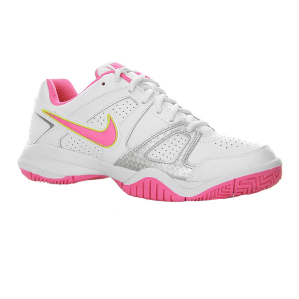 new specials outlet better Nike City Court 7 Junior Tennis Shoes White/Desert Pink 488327-102