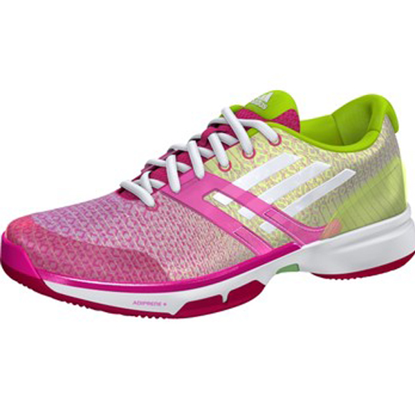 Pink Adidas Tennis Court Shoes