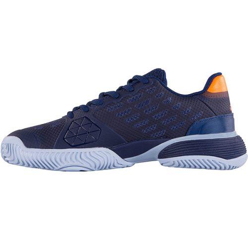 Adidas Roland Garros men's Barricade Club Clay tennis shoes navy blue, beige, and red