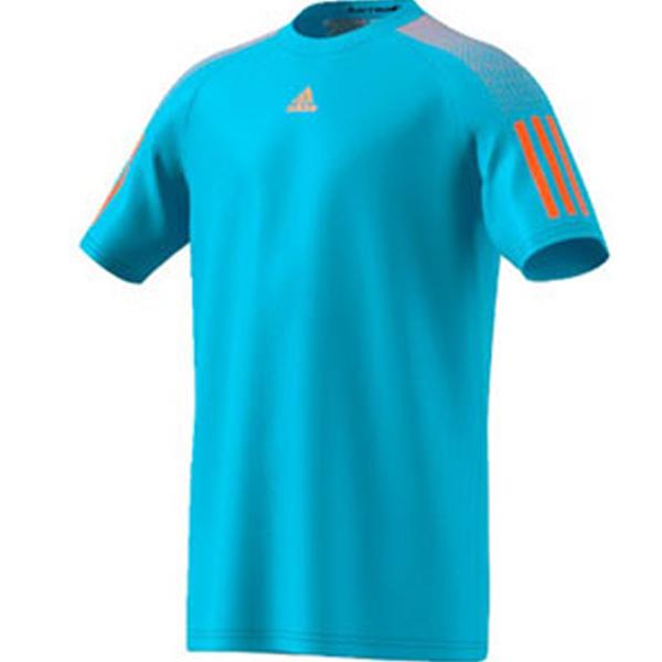 67cf5707 adidas Men's Barricade Tee Samba Blue/Glow Orange BK0679 - The ...