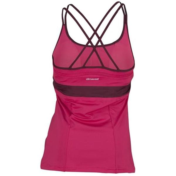 e9ab3a5e01d46 Adidas Women's All Premium Strap Tank Amazon Red M61775