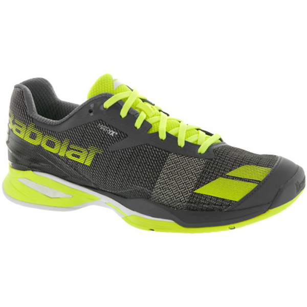 huge discount e94b2 5c1f7 Babolat Jet All Court Men s Tennis Shoe Grey Yellow. Sale!   